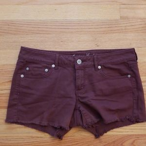 ❤AMERICAN EAGLE STRETCH RED SHORT SHORTS, SIZE 12